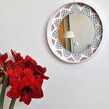 Zrkadlá - Kruhové zrkadlo Vyšívané AKCIA!!! - 9333868_