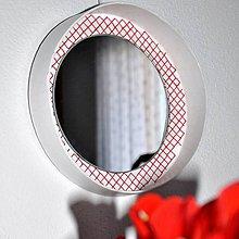 Zrkadlá - Kruhové zrkadlo Krížiková výšivka AKCIA! - 9333873_
