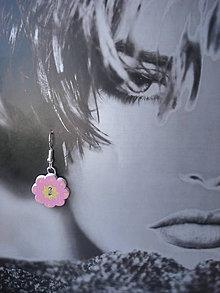 Náušnice - Náušničky - ružová kvetinka - 9334468_