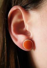 Náušnice - jarné keramické náušnice oranžové - 9336986_