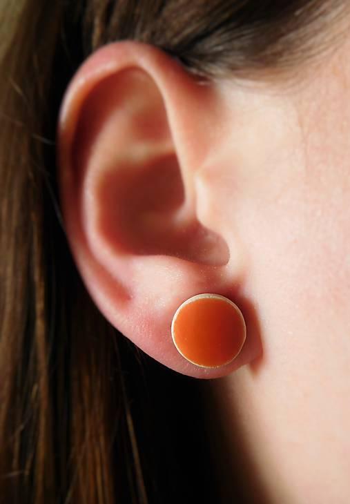 jarné keramické náušnice oranžové