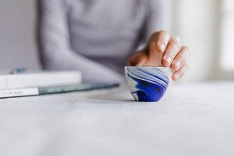 Nádoby - espresso šálka, modrá vlna - 9336541_