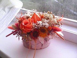 Dekorácie - Kvetinová krabička ... prírodná dekorácia - 9336787_
