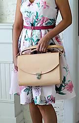 Veľké tašky - Veľká kabelka na  rameno MAXI SATCHEL BAG NATURAL - 9335420_