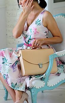 Veľké tašky - Veľká kabelka na  rameno MAXI SATCHEL BAG NATURAL - 9335500_