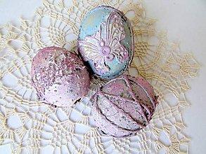 Dekorácie - Veľkonočné vajíčka - pastelové - 9334911_