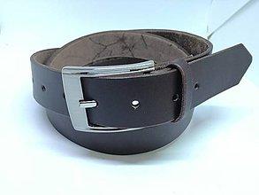 Doplnky - kožený opasok 3,5cm - 9337087_
