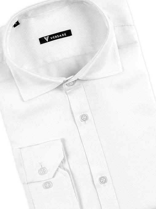 dd4736f487fc Pánska košeľa so žraločím golierom VS-PK 1843 biela ľanová ...