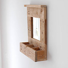 Nábytok - Polička so zrkadlom - 9333863_