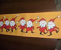 Úžitkový textil - Maľovaný obrus stredový - oranžový, 20 x 136 cm - 9333374_