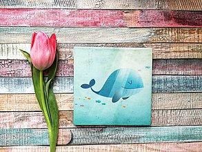 Papiernictvo - Leporelo 13x13 ,,Baby veľrybka,, - 9335762_