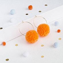 Náušnice - Oranžové brmbolcové náušničky - 9332826_