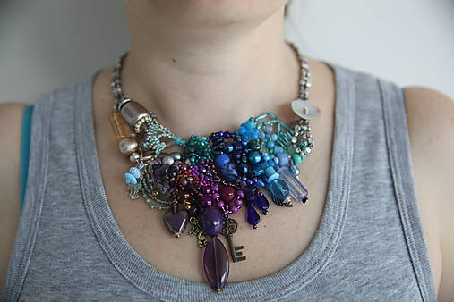 58999c8c5 Farebný náhrdelník / by_manu - SAShE.sk - Handmade Náhrdelníky