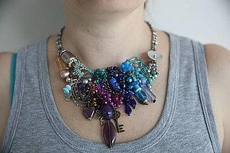 Náhrdelníky - Farebný náhrdelník - 9336995_