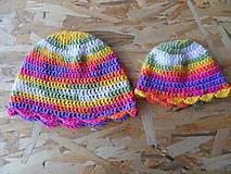 Čiapky - Jesenné/jarné čiapky pre mamku a dcérku :-) - 9333341_