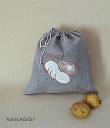 Úžitkový textil - ľanové vrecko  (zemiaky) - 9336108_