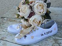 Obuv - Vyšívané svadobné tenisky - 9335906_