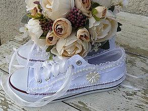 Obuv - svadobné tenisky -romantika - 9334007_