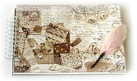 - Vintage čipka-svadba/svadobná kniha hostí/ svadobný fotoalbum/album na fotky/rodinný album/ kronika/dnes zľava % - 9335691_