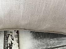 Úžitkový textil - Ľanová obliečka s monogramom (70x90 - Šedá) - 9336064_