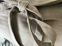 Úžitkový textil - Ľanová obliečka s monogramom (70x90 - Šedá) - 9336067_