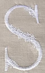 Úžitkový textil - Ľanová obliečka s monogramom (70x90 - Šedá) - 9336068_
