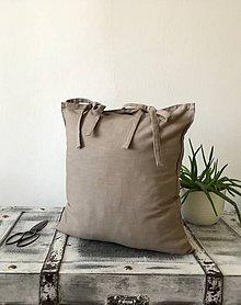 Úžitkový textil - Ľanová obliečka s monogramom - 9336057_