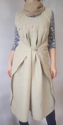 Šaty - Ľanové šaty - 9335111_