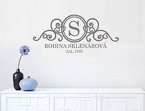 Dekorácie - Nálepky na stenu - Vlastné rodinné logo - 9334782_