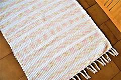 Úžitkový textil - Tkaný koberec bielo-žlto-béžovo-ružový - 9335247_
