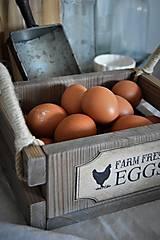 Nábytok - Farmárska debnička na vajíčka a všeličo iné... - 9336297_
