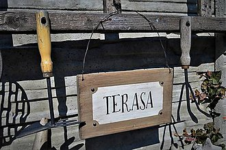 Tabuľky - Drevené tabuľky do záhrady a na terasu - 9336382_