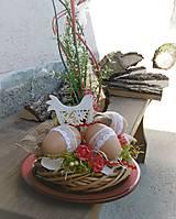 Dekorácie - Jarná dekorácia s kohútikom - 9339840_