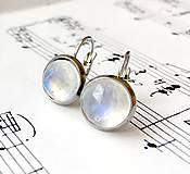 Moonstone Stainless Steel Earrings / Visiace náušnice s AAA+ mesačným kameňom (chirurgická oceľ) /0342