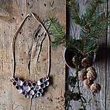 Náhrdelníky - keramický náhrdelník modro-bielo-tyrkysový - 9339100_
