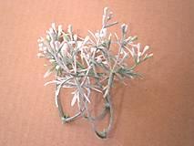 Iný materiál - Zeleň s bobuľkami - 1 dvojvetvička - 9337600_