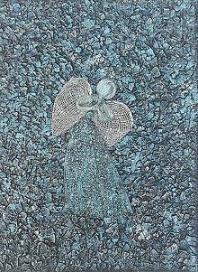 Obrazy - Tyrkysový anjel - obraz 30x40 - 9337637_