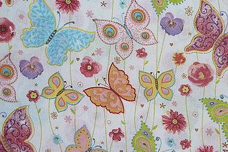 Textil - Látka Farebné motýle - 9339220_