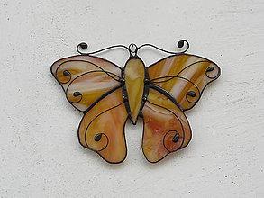 Dekorácie - Motýľ Emanuel - 9338879_