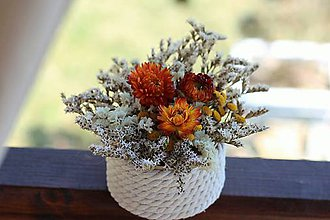 Dekorácie - Kvetinová krabička - 9338027_
