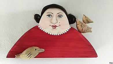 Socha - Pani Tereza rada kŕmi vtáčiky - 9339752_