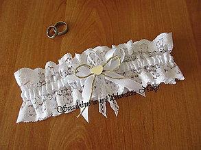 Bielizeň/Plavky - Svadobný podväzok (vintage) - 9339618_