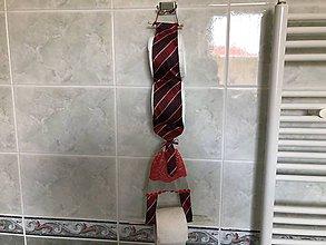 Pomôcky - Zásobník na wc papier z kravaty - 9338176_