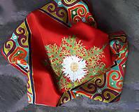 Šatky - Zákutia srdca- hodvábna maľovaná šatka - 9337640_