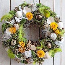 Dekorácie - Prírodný veniec na dvere... jarný, zelený - 9337669_