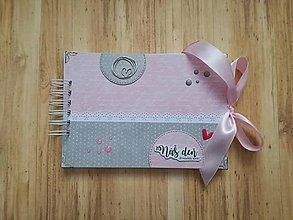 Papiernictvo - Rúžovo sivá kniha hostí - 9337849_