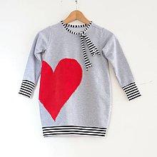 Detské oblečenie - Pohodlné trendy mikinošaty balonové - 9340893_