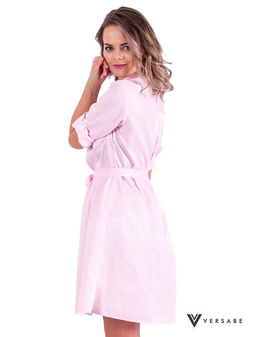 Šaty - Dámske košeľové šaty VS-DS 1842 ružové - 9339046_