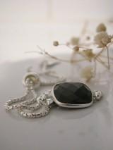 Náramky - Uťahovací s čiernym ónyxom - 9340715_