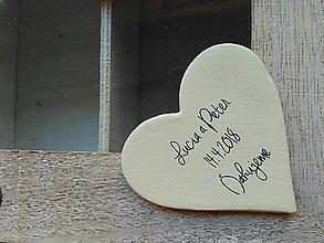 Darčeky pre svadobčanov - ivory magnetky s novým písmom - 9341090_